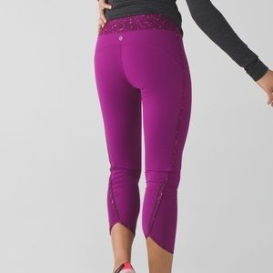 Lululemon Real Quick tight regal plum crop